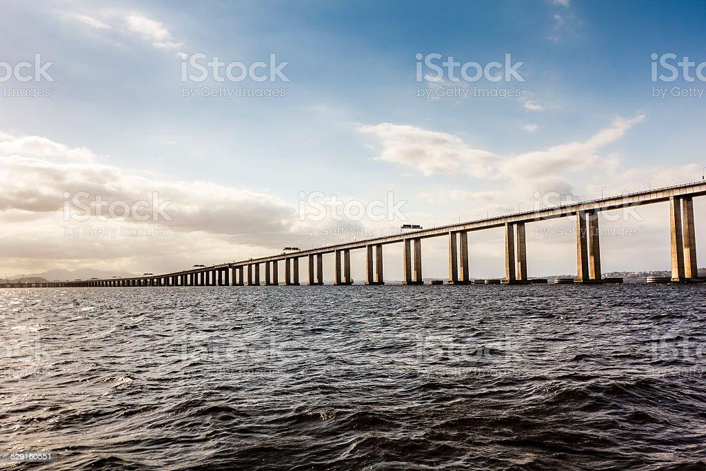Rio-Niteroi Bridge stock photo