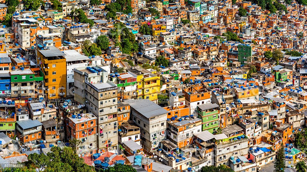 Rio's Rocinha favela stock photo