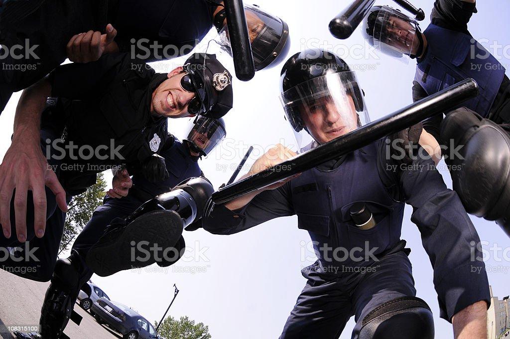 Riot Cops stock photo