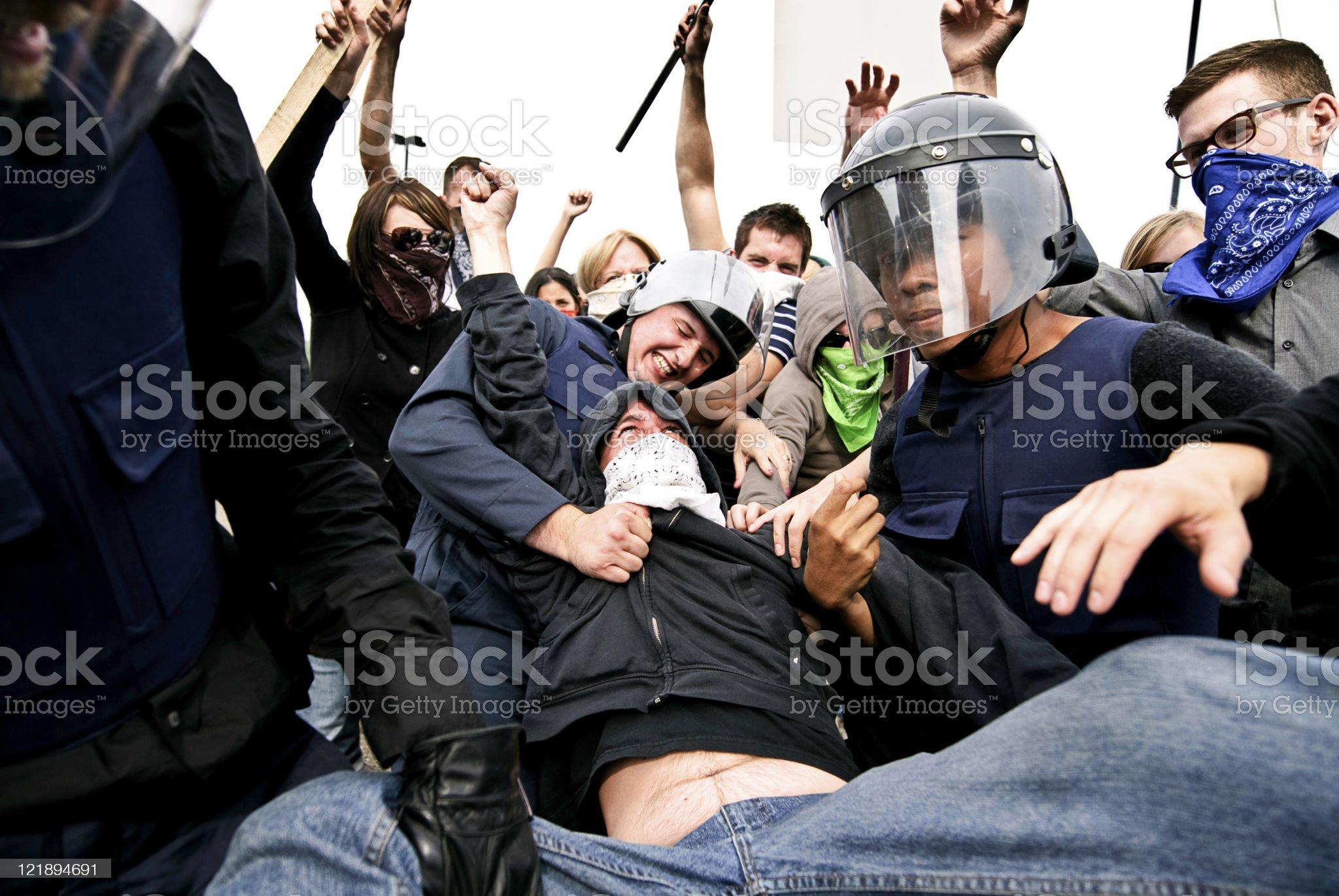 Riot royalty-free stock photo