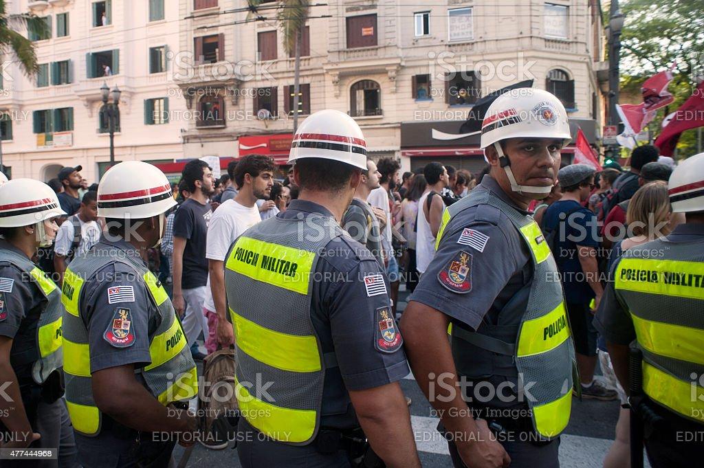 Riot Platoon stock photo