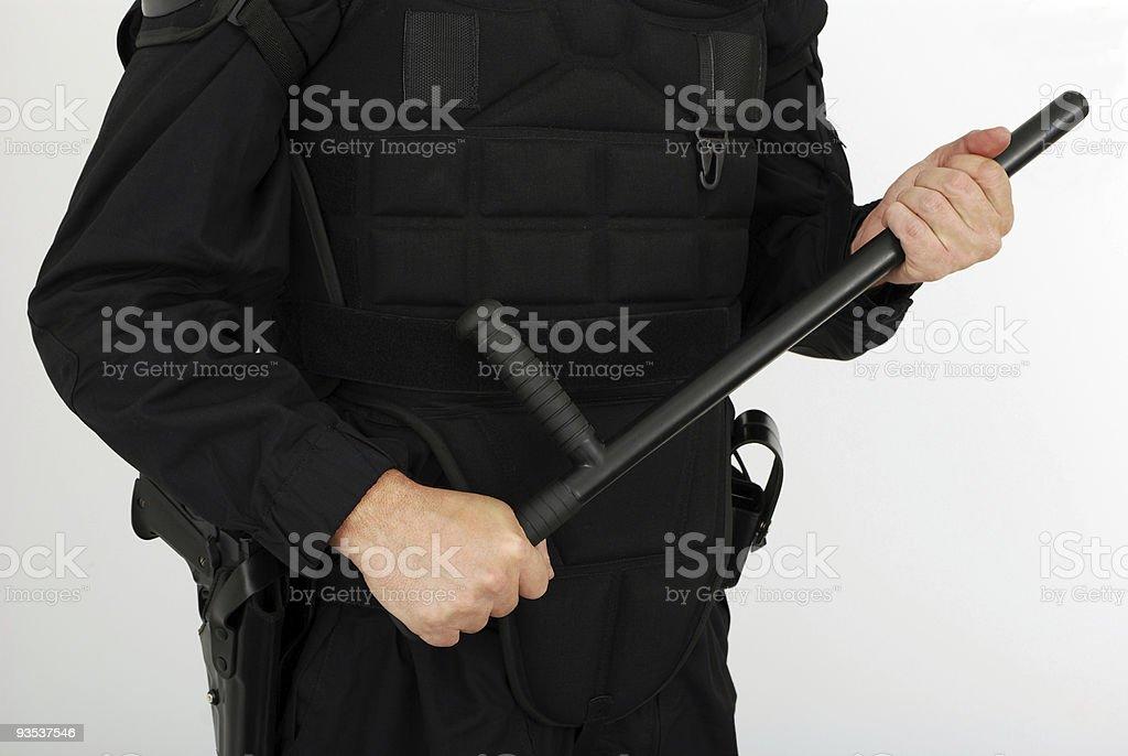 riot police equipment stock photo