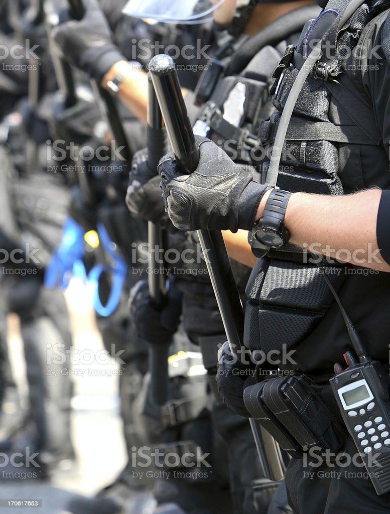 Riot Police royalty-free stock photo