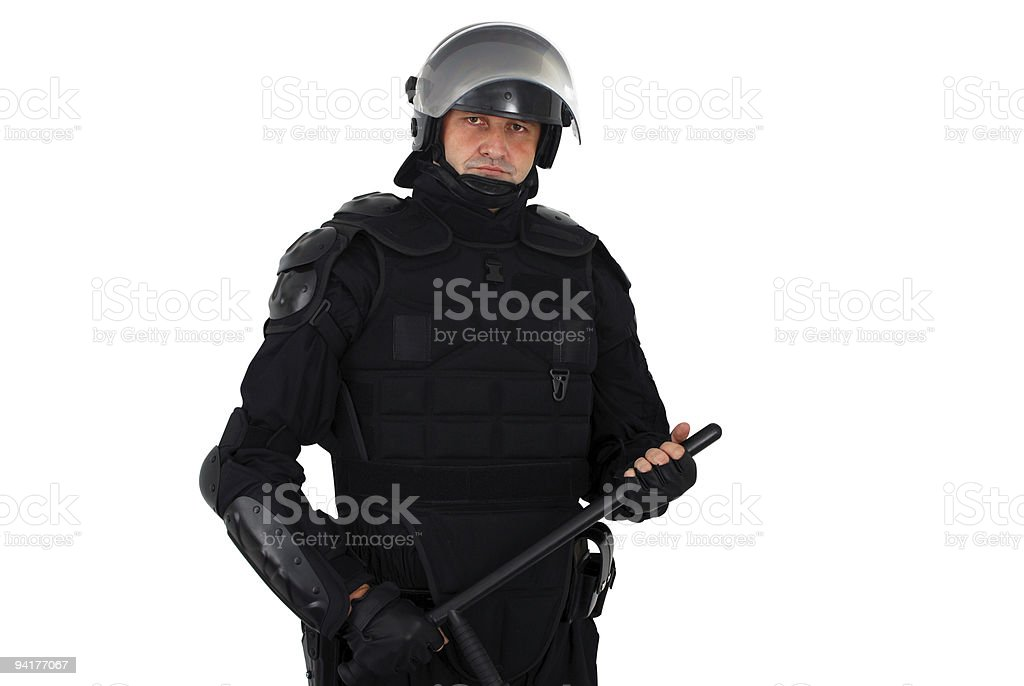 riot policeman stock photo