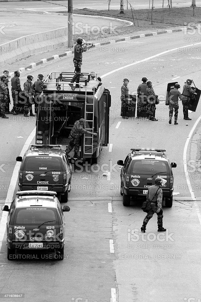 Riot squad royalty-free stock photo