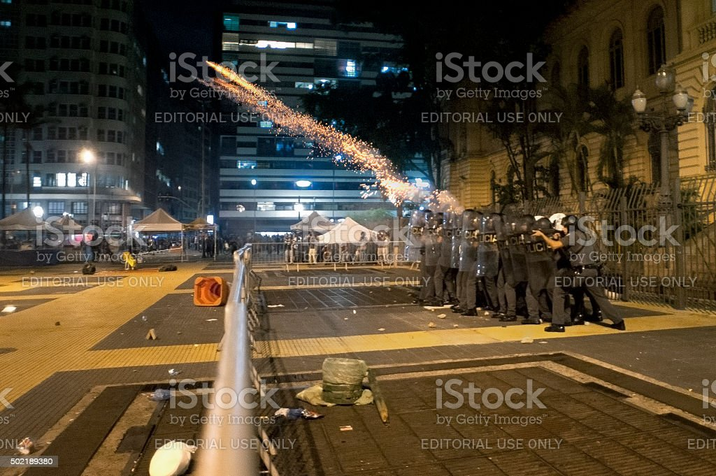 Riot Squad stock photo