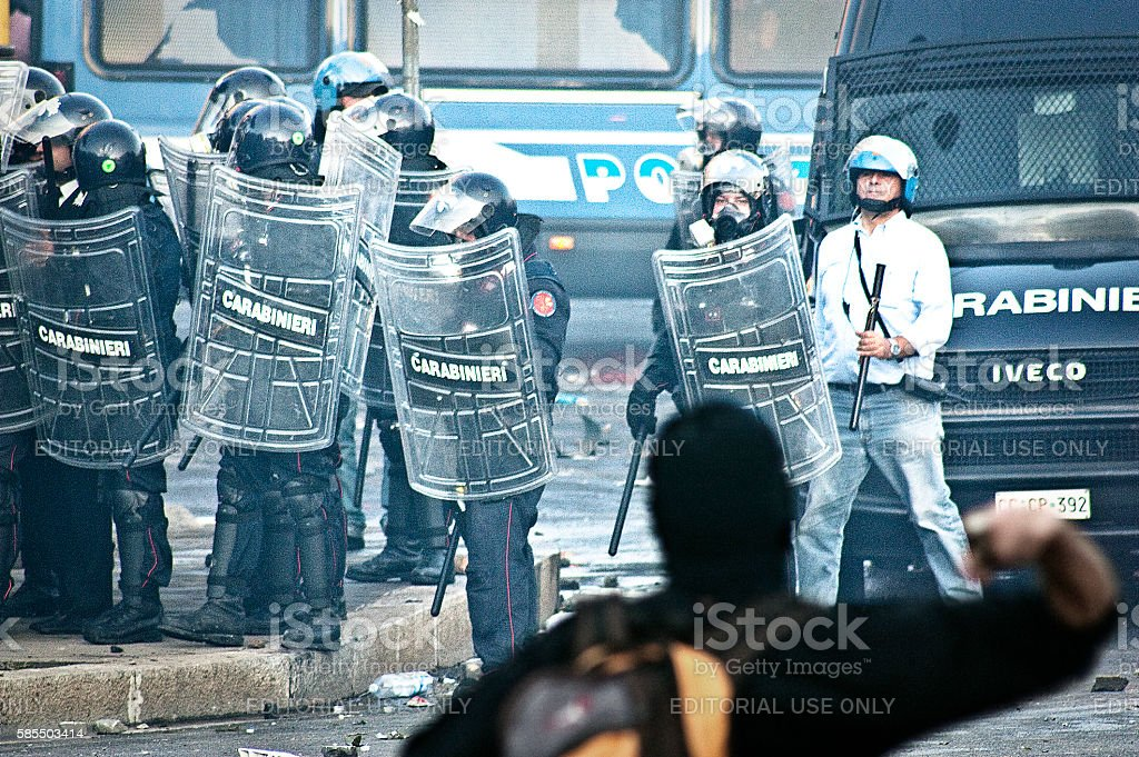 Rioter stock photo