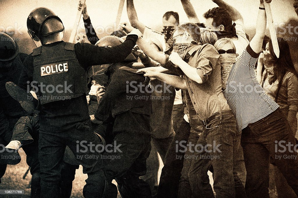 Riotous stock photo