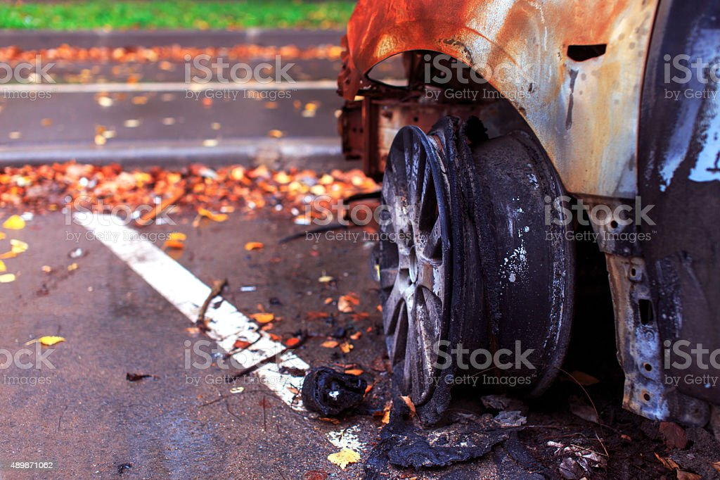 riots in the streets stock photo