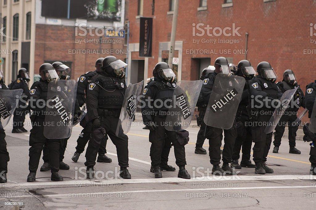 Riots near G20, June 26, 2010 - Toronto, Canada. stock photo