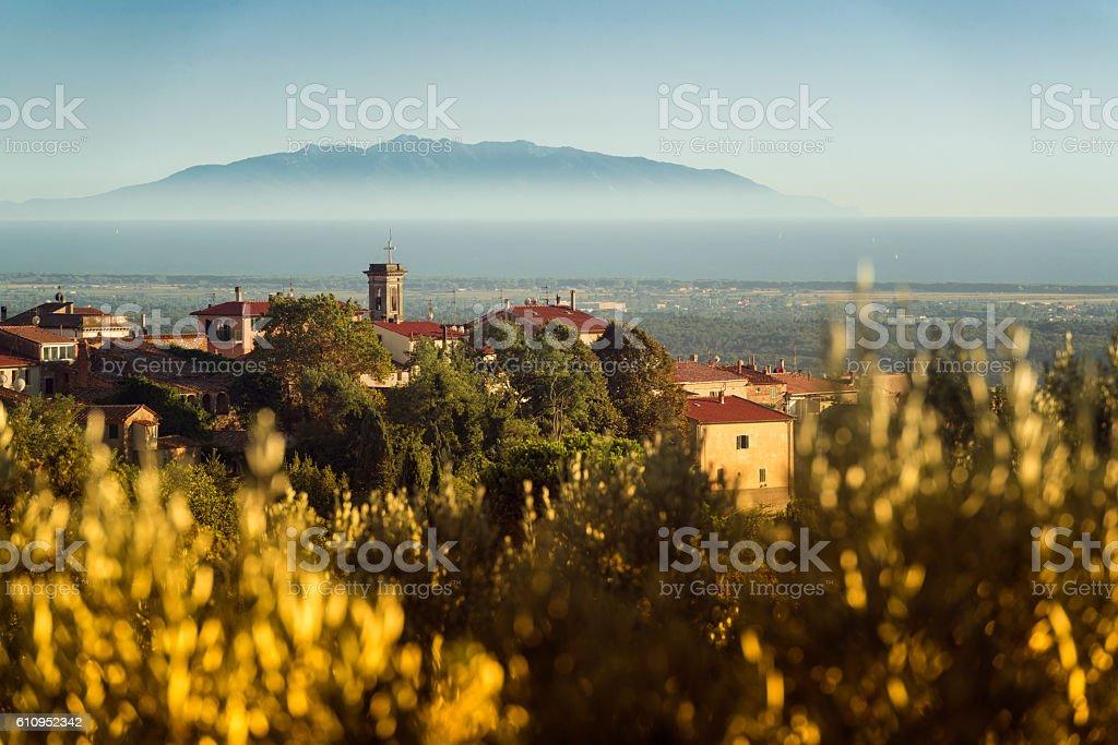 Riparbella tuscany province pisa stock photo