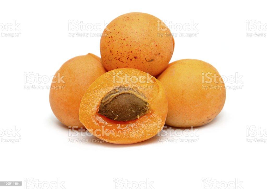 ripe apricots royalty-free stock photo