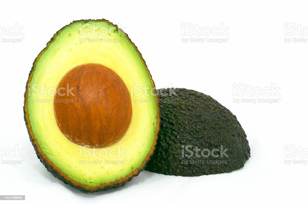 Ripe Avocado Cut royalty-free stock photo