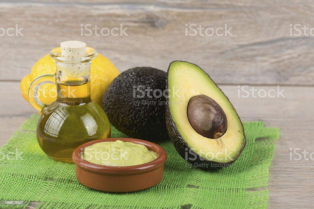 ripe avocado royalty-free stock photo