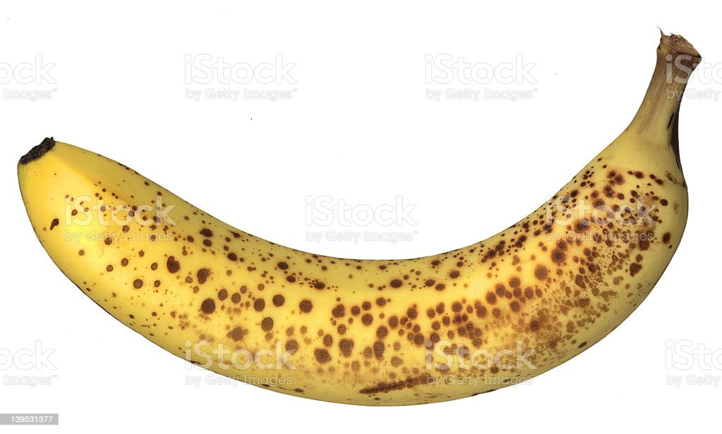 Ripe banana royalty-free stock photo