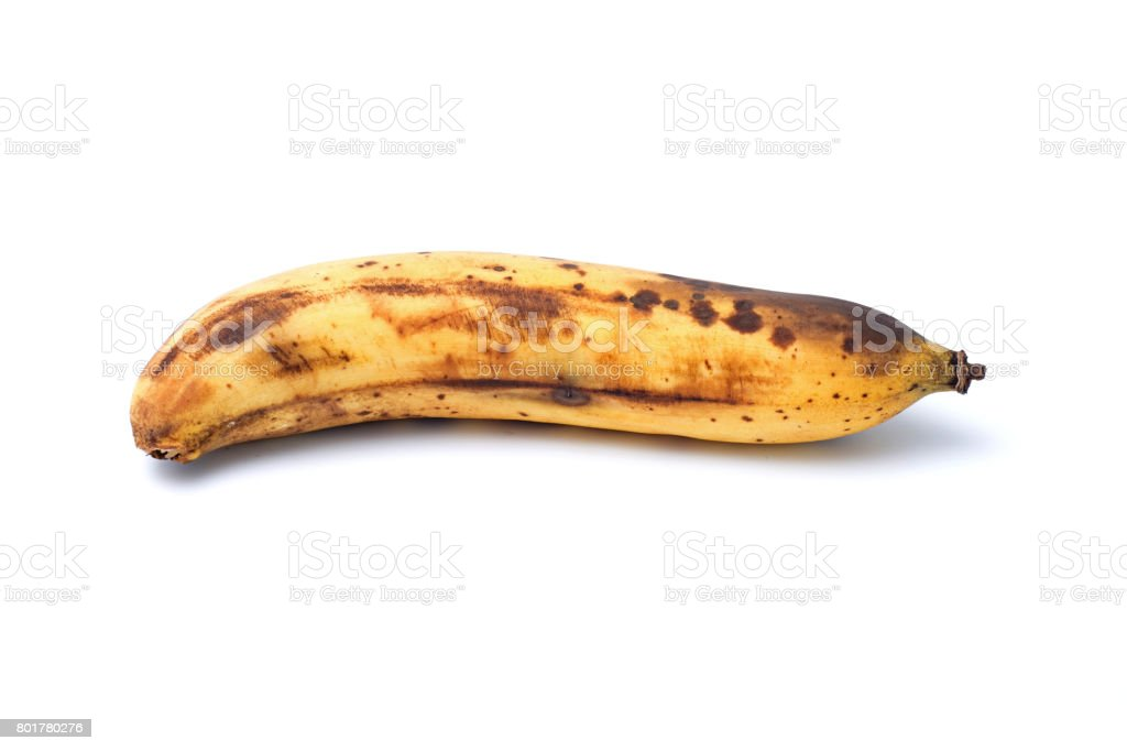 Ripe banana (The fully ripe banana produces a substance called Tumor Necrosis Factor (TNF) which has the ability to combat abnormal cells) stock photo