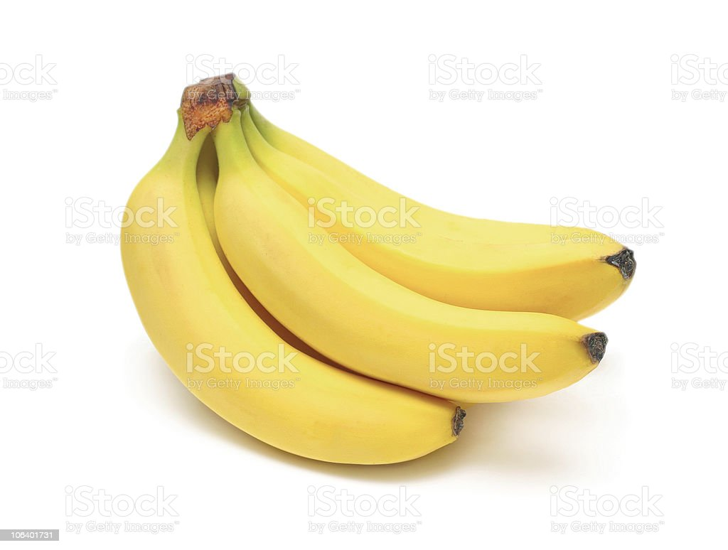Ripe bananas bunch stock photo