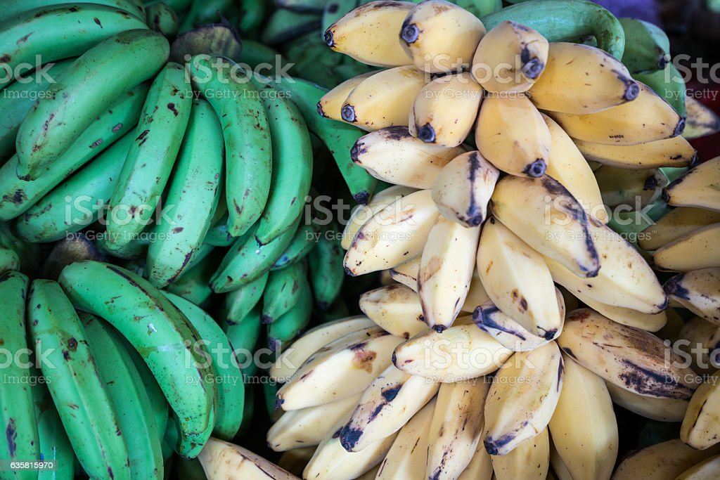 Ripe Bananas For Sale in Bagan Market stock photo