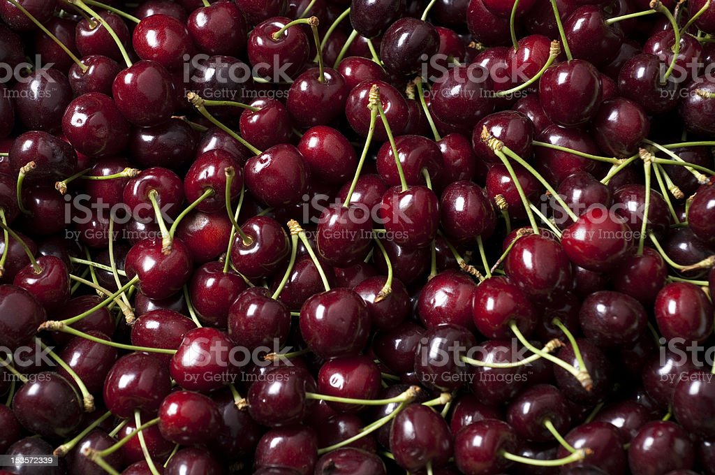 ripe cherry pile stock photo