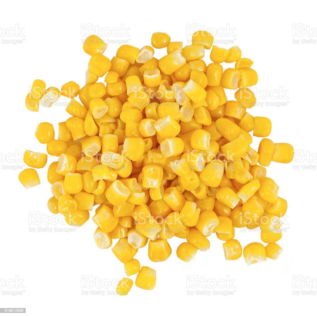Ripe corn isolated stock photo