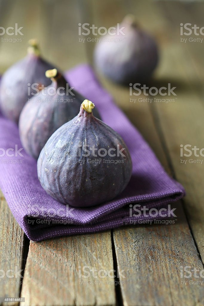Ripe figs on the table stock photo