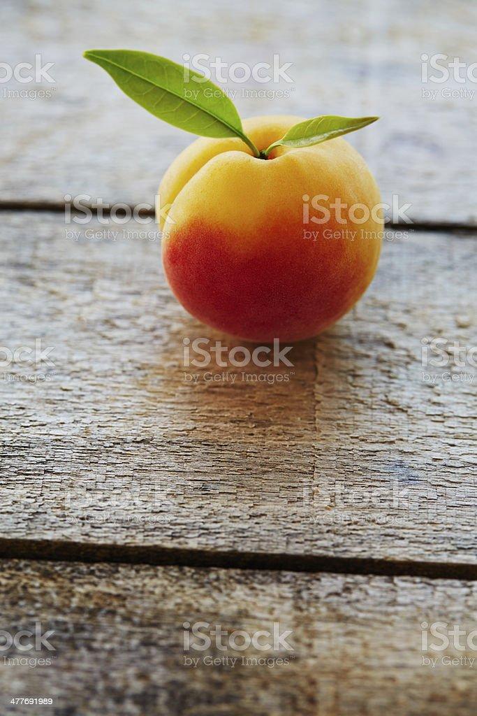 Ripe fresh apricot royalty-free stock photo