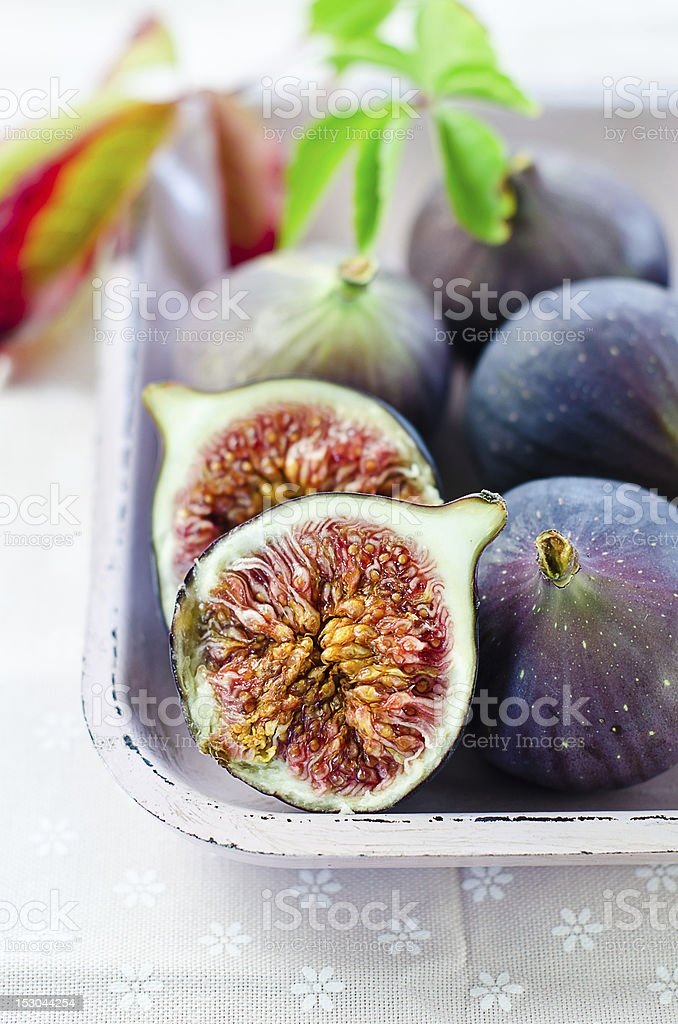 Ripe fresh Fig stock photo