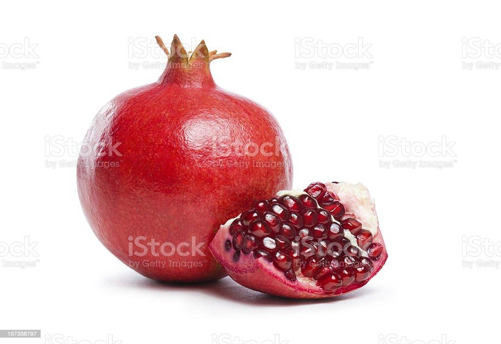 Ripe fresh pomegranate fruit. stock photo