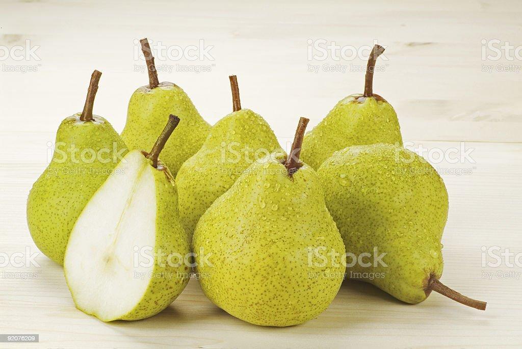 Спелые зеленый груши Стоковые фото Стоковая фотография