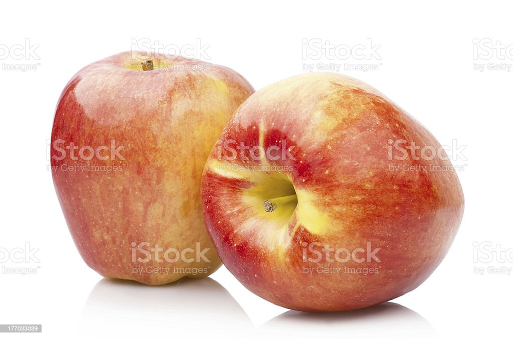 Ripe juicy apples, isolated on white royalty-free stock photo