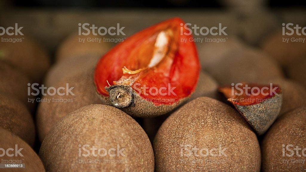 ripe mamey stock photo