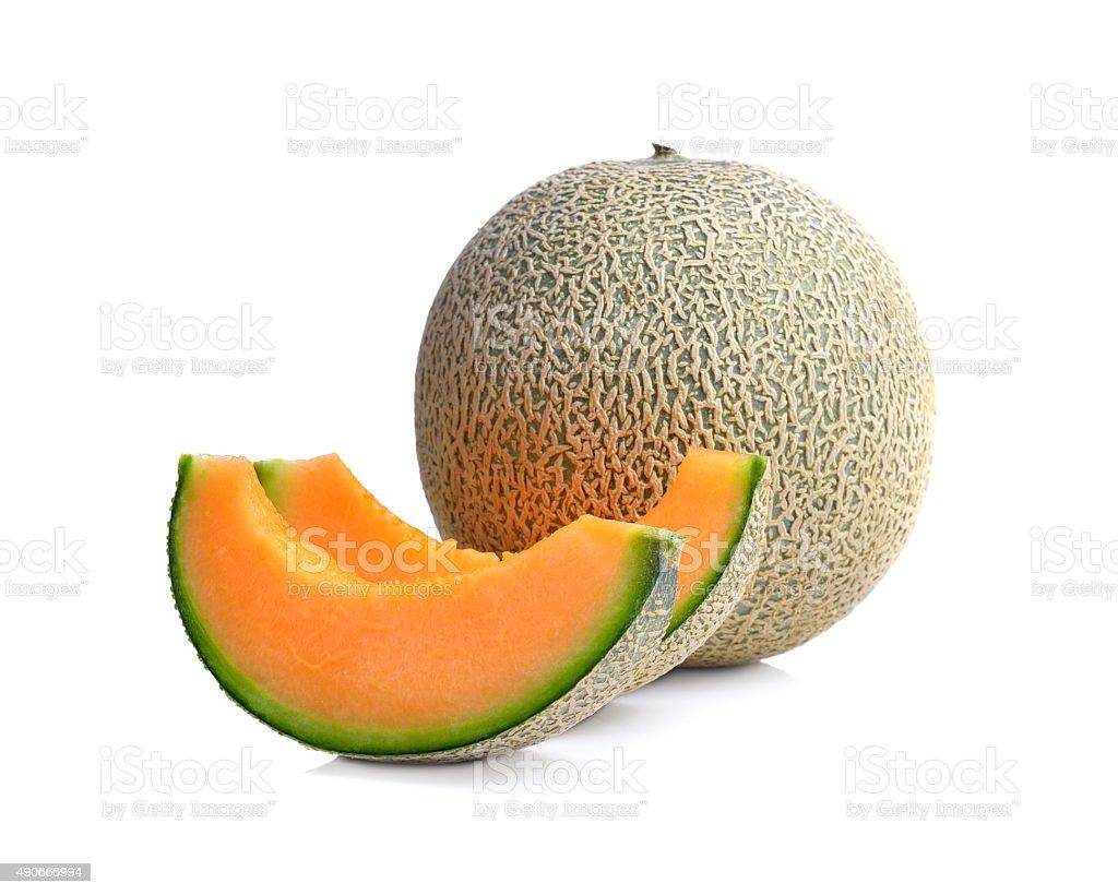 Dojrzałe melon na białym tle zbiór zdjęć royalty-free