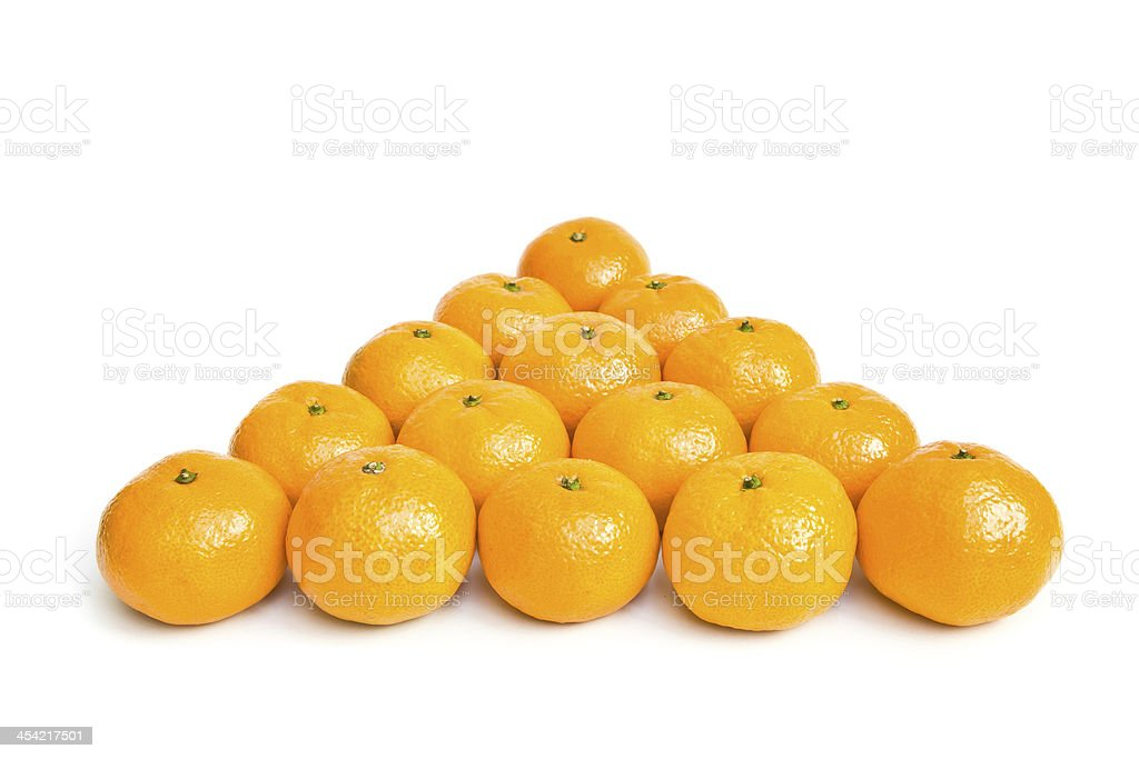 Ripe oranges royalty-free stock photo