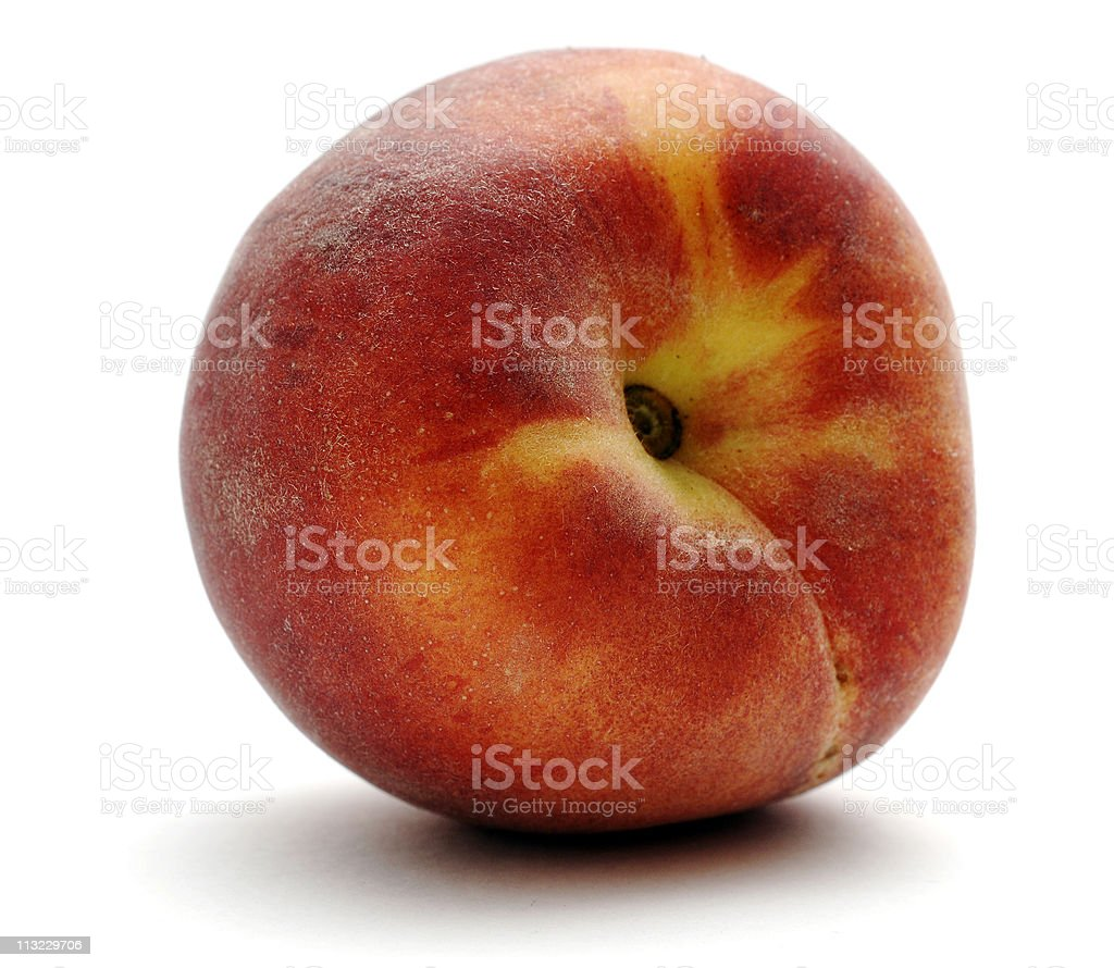 ripe peach against a white background royalty-free stock photo