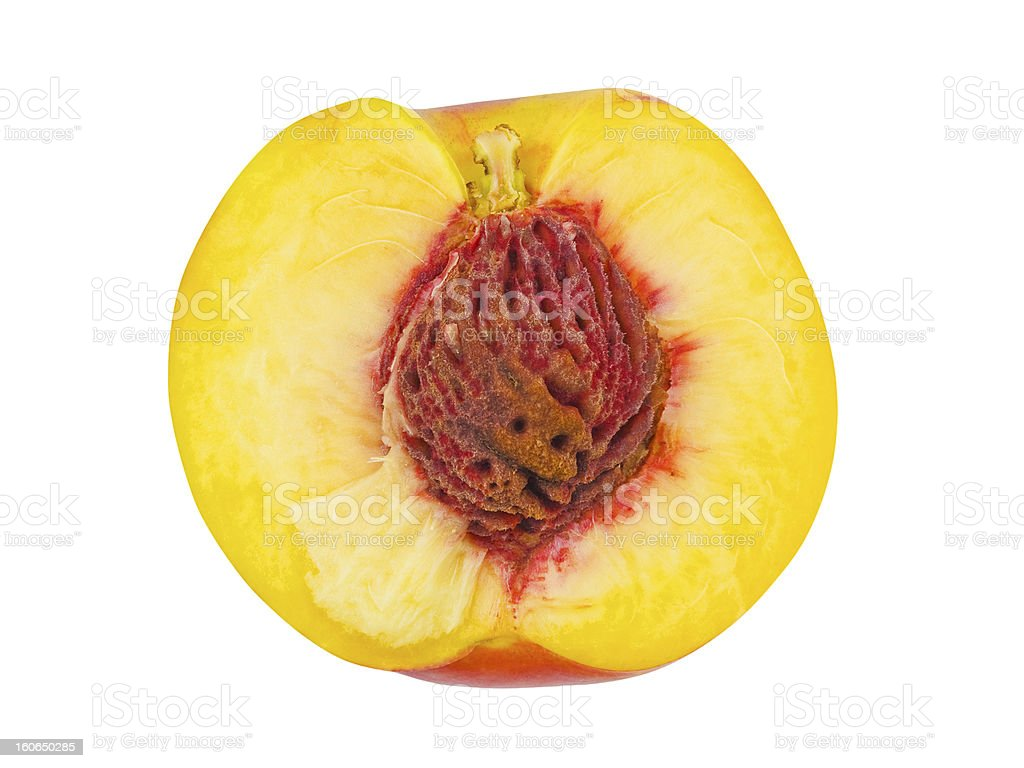 Ripe peach fruit royalty-free stock photo