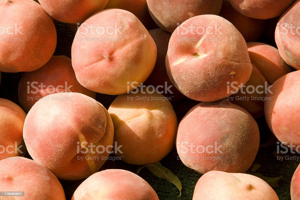 Ripe Peaches - Group in Sunlight stock photo