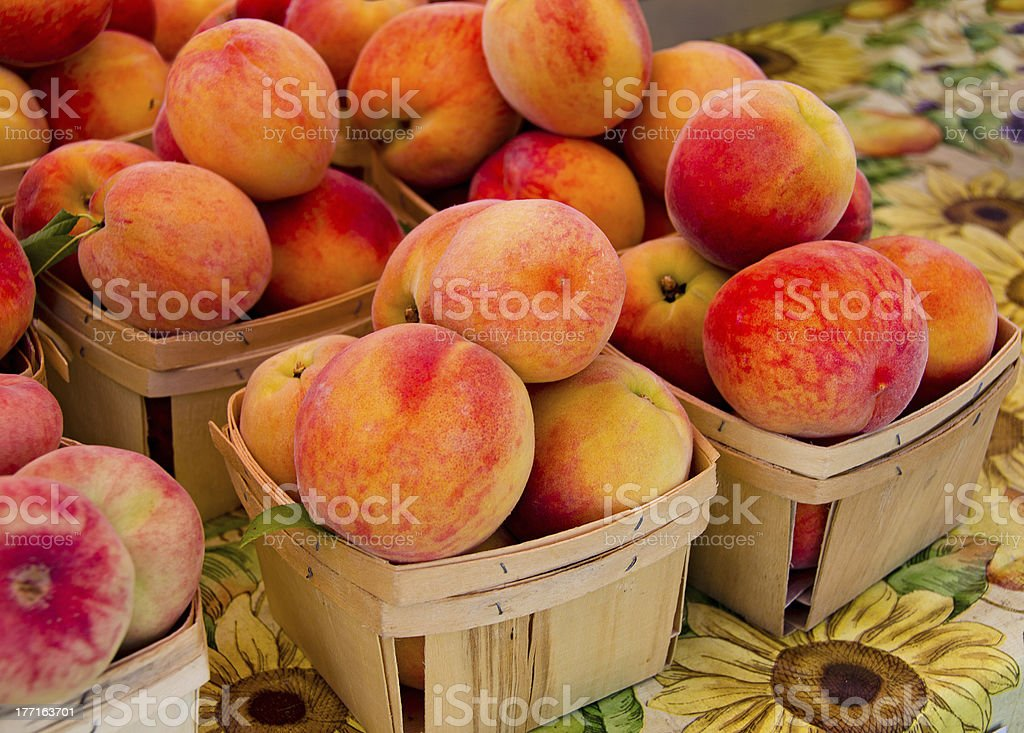 ripe peaches royalty-free stock photo