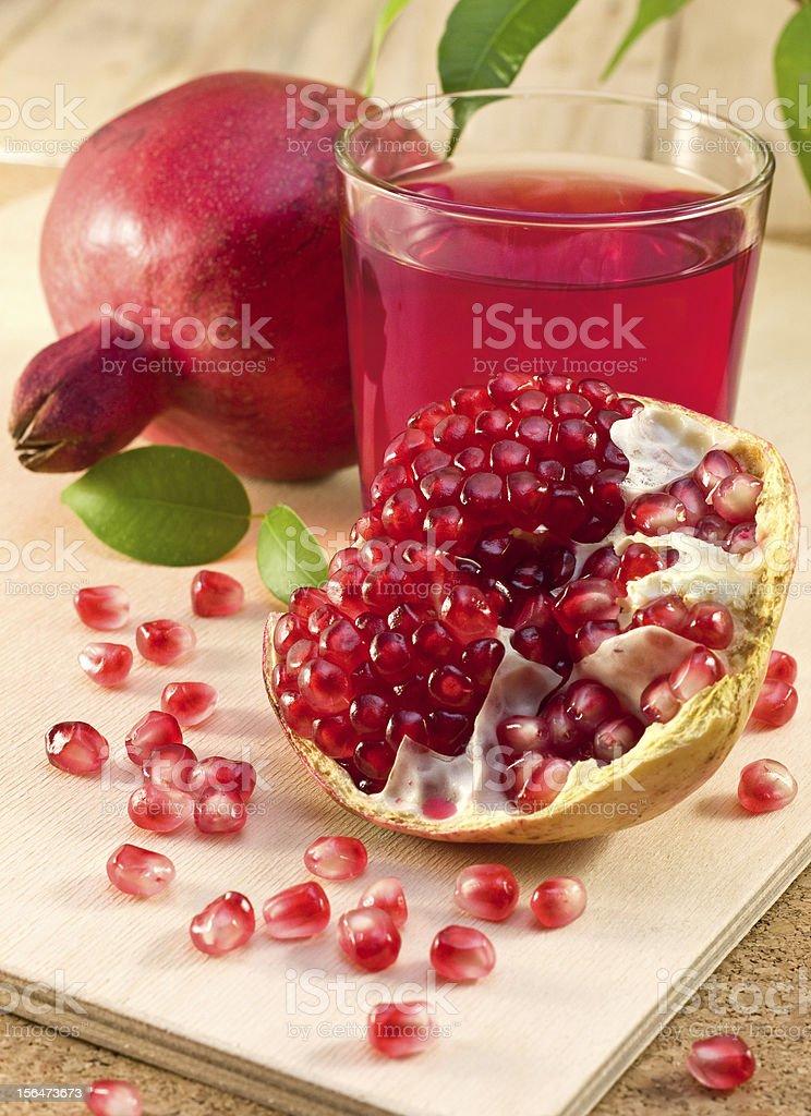 ripe pomegranate royalty-free stock photo