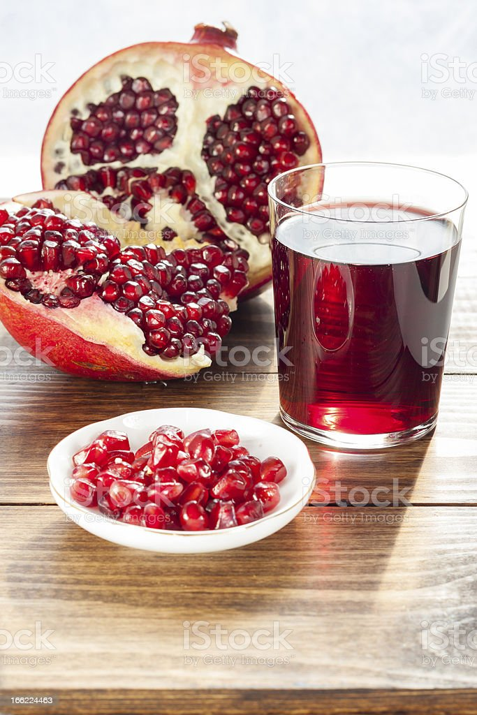 Ripe pomegranates royalty-free stock photo
