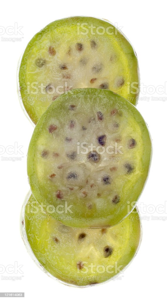 Ripe Prickly Pear Cactaceous Fruit royalty-free stock photo