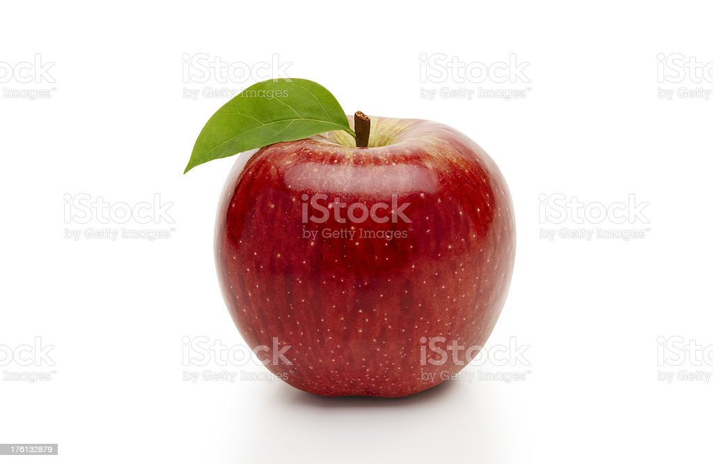 ripe red apple  ( with clipping path ) royalty-free stock photo