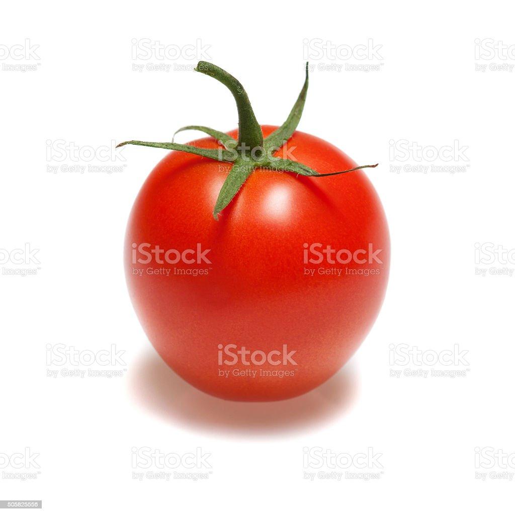 Ripe red tomato stock photo