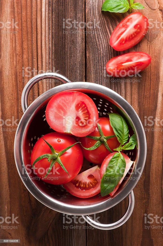 Ripe red tomatoes stock photo