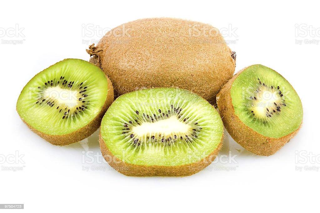 Ripe Sliced Kiwi Fruit Isolated stock photo