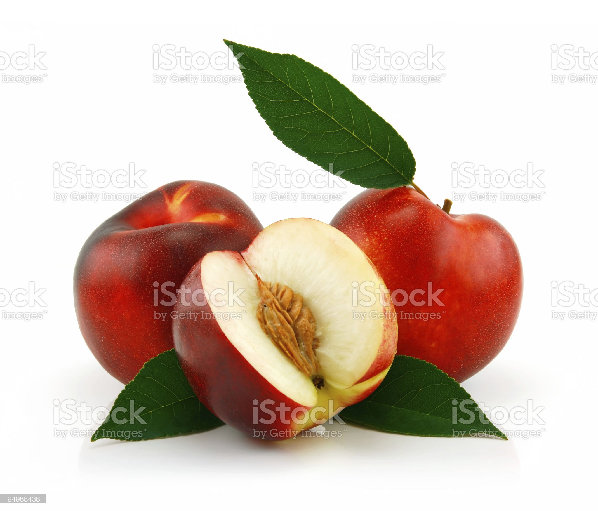 Ripe Sliced Peach (Nectarine) royalty-free stock photo