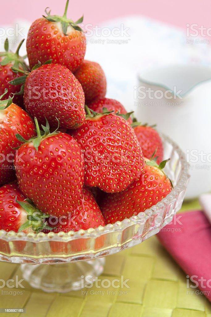 Ripe Strawberries ready to eat (XXXL) stock photo