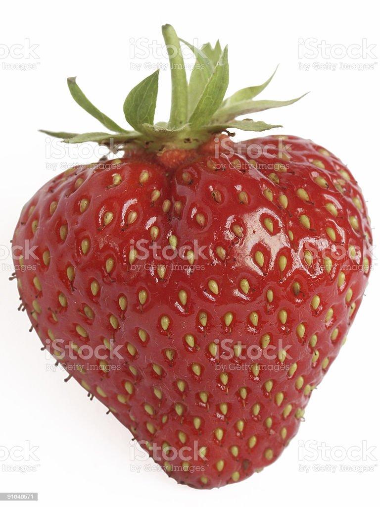 Ripe strawberry royalty-free stock photo