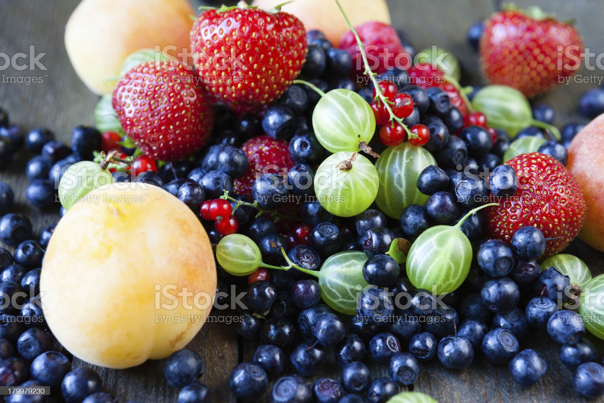 ripe summer berries royalty-free stock photo