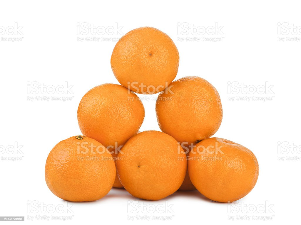 Ripe tangerine or mandarin fruit stock photo