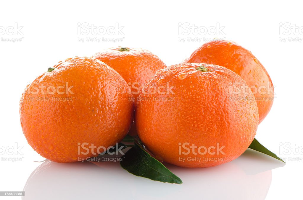 Ripe tangerines or mandarin royalty-free stock photo